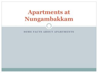 Apartments at Nungambakkam - Vin Homes