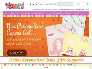 Personalised Baby Canvas Arts – Named