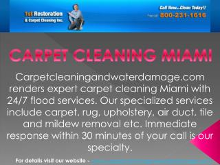 Best carpet cleaning services in Miami at carpetcleaningandwaterdamage.com
