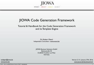 JIOWA Code Generation Framework