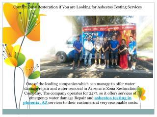 Asbestos Testing in Phoenix AZ