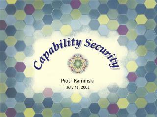 Piotr Kaminski July 18, 2003