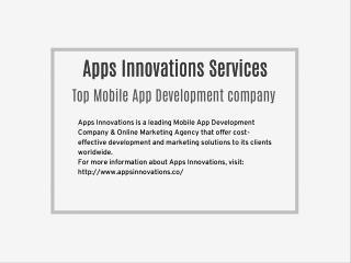Mobile App Development Company   Apps Innovations