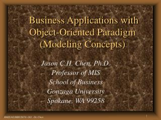Business Applications with Object-Oriented Paradigm  Modeling Concepts
