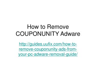 How to remove couponunity adware