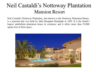 Neil Castaldi's Nottoway Plantation  - Mansion Resort