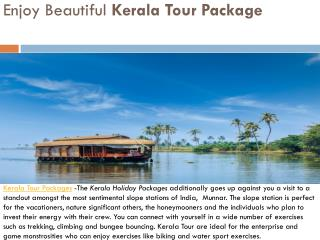 Enjoy beautiful kerala tour package