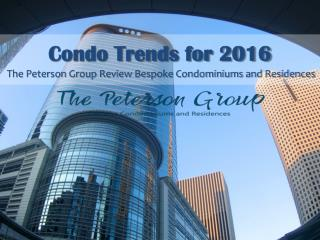 Condo Trends for 2016