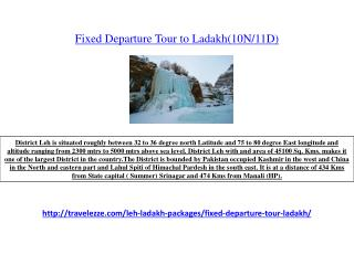 Fixed Departure Tour to Ladakh(10N/11D)