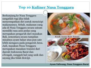 Kuliner Nusa Tenggara