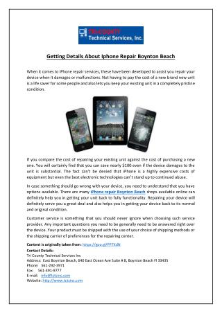 Getting Details About Iphone Repair Boynton Beach