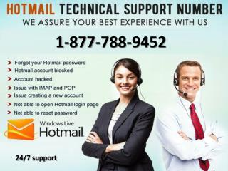 Hotmail support tollfree 1-877-788-9452 number for technical support