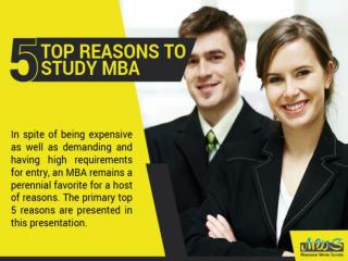 Five Top Reasons Why an MBA Still Remains So Much Wanted