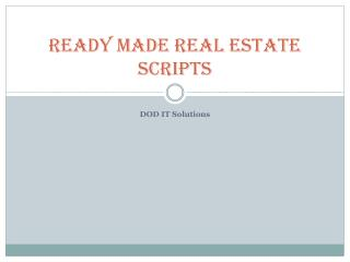 Real estate scripts with payment gateway , technological features