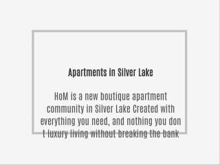 Apartments in Silver Lake