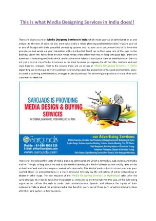 Media Designing & Buying Services in Chennai, Bangalore, Hyderabad, Delhi, India