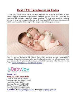 Best IVF Treatment in India