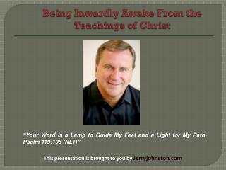 Being Inwardly Awake From the Teachings of�Christ
