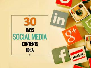 How to Make 30 Days Social Media Content Plan