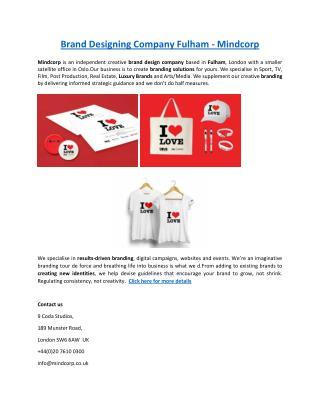 Brand Designing Company Fulham - Mindcorp