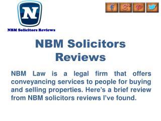 NBM Solicitors Reviews