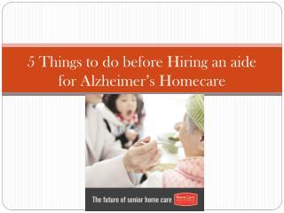 Alzheimer's Homecare