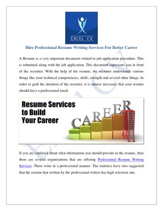 Resume Writing Services India, Resume Service