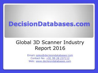3D Scanner Market Analysis 2016 Development Trends