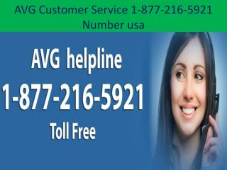 Avg contact  Support 1-877-216-5921 Number