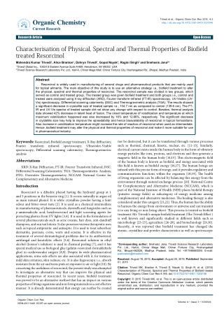 Biofield | Physical, Spectral & Thermal Properties of Resorcinol