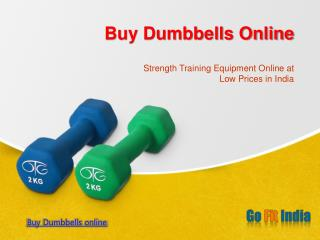 Fitness Equipment dumbbells online