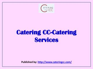 Catering CC-Catering Services
