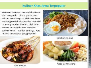 Kuliner Khas Jawa Terpopuler