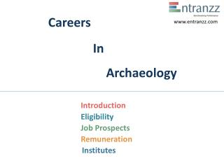 Careers In Archaeology
