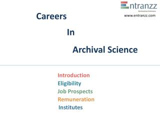 Careers In Archival Science