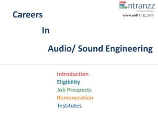 Careers In Audio Sound Engineering