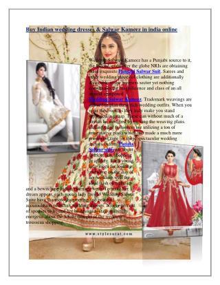 Wedding Salwar Kameez  Buy Wedding Salwar Suits online