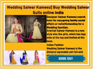 Wedding Salwar Kameez| Buy Wedding Salwar Suits online india