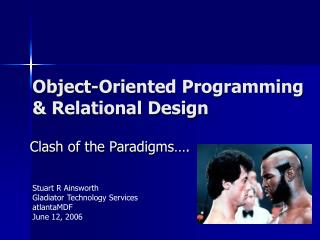 Object-Oriented Programming  Relational Design