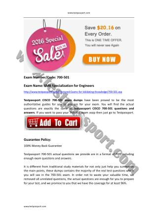 Cisco SMBEN 700-501 braindumps
