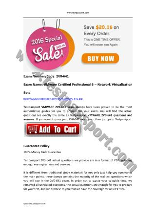 VCP6-NV 2V0-641 PDF download