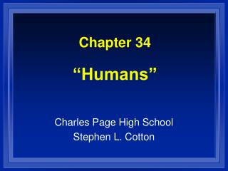Chapter 34   Humans