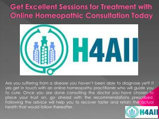 Get Excellent Sessions for Treatment with Online Homeopathic Consultation Today