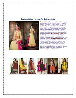 Designer Salwar Suits & Salwar kameez online shopping store