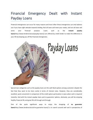 Instant Payday Loans for Unemployed People in UK