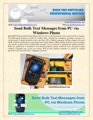 Send Bulk Text Messages from PC via Windows Phone