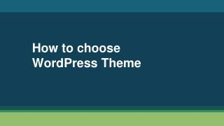 How to WordPress Theme for your business