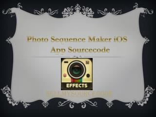 Photo Sequence Maker iOS Sourcecode