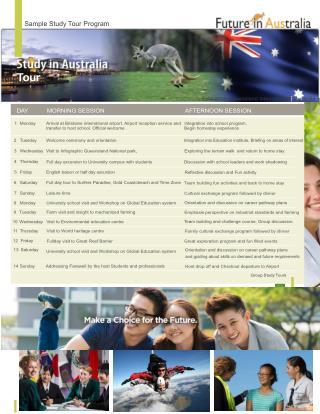 Study Tour Programs Australia And New Zealand
