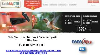Tata Sky HD Supreme Sports Kids Pack- Bookmydth.com/Tatasky